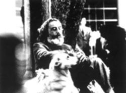 Emilio Echevarría and man's best friend