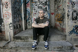 Henry Rollins is intense and focused.