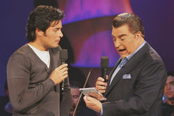 Sábado Gigante features guests like Chayanne (left).