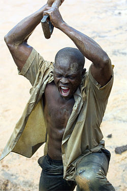 Hounsou, in a stupid story of boring white people