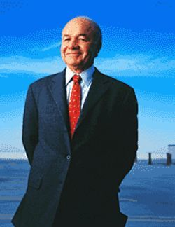 Kenneth Lay: Three-card monte with oil barrels.