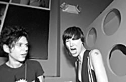 Nick Zinner and Karen O. from the Yeah Yeah Yeahs at Rok Bar