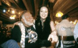 Early bird special: Goldstein and girlfriend Saori party down at his 65th