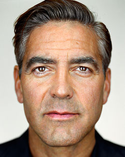 Yes, George Clooney shaves his widow's peak. Not sure about Paris Hilton or Chris Rock.
