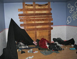 This bedroom in a Phoenix home was used by coyotes as a drop house to stash illegal immigrants they were extorting.