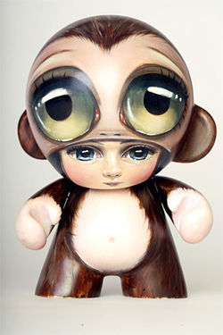 The seven-inch-tall simian art toys can be cute, evil, and sometimes both. By Sas Christian