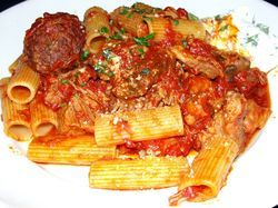 The Sunday-dinner-style rigatoni.