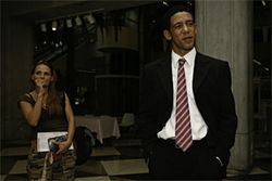 Everywhere he goes, Fauxbama gets the same perplexed stares. Is it... could it be... him?