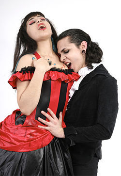 Models: Julia Doltchinkova and Gino Suarez of Cabaret Vampyra