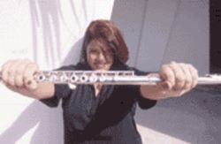 "Though she has a contagious sense of humor, the  strike aggravated flutist Kristin Halay: ""I just don't know  why management seems intent on destroying this  orchestra"""