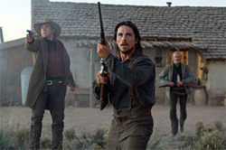 Christian Bale dredges up a few shreds of dignity and leads the way against the bad guys. Crowe (top) helps keep the body count climbing.