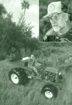 Down-home ingenuity: Buster Miller on his Datsun-powered swamp buggy