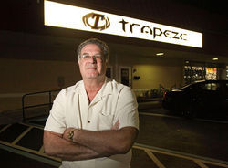 Alan Mostow, co-owner of Trapeze, the biggest and best-known swingers' club in the country.