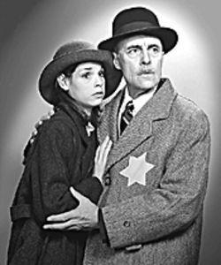 Jennifer Lehr and Peter Haig in The Diary of Anne Frank