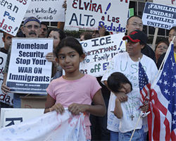 Supporters of amnesty for illegal immigrants protest in Los Angeles in August.