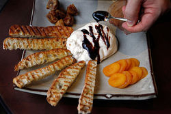 Quantities of Tanzy's imported burrata with poached pear are limited.