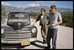 Sam Riley and Garrett Hedlund in On The Road.