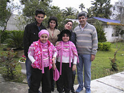 Gholikhan and Seif &amp;mdash; here with her twin daughters and other relatives &amp;mdash; says Seif was the Iranian agent looking for night-vision goggles; she only translated for him once.