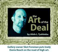 Only 15 South Florida galleries were selected to exhibit at this year's Art Miami. Foreman's gallery made the cut.