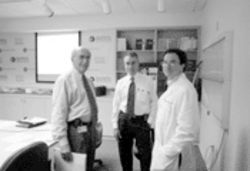 The point men of the cancer-vaccine trials at Holy Cross Hospital: Drs. Howard Abel, Leonard Seigel, and Martin Gutierrez