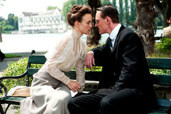 Knightley and Fassbender: Intrigued.