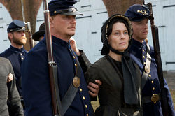 Robin Wright as Mary Surratt: She fits her part and period.