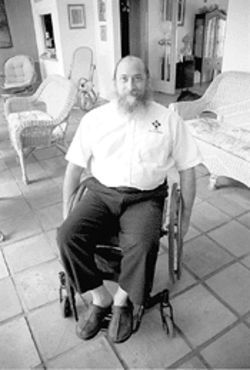 Garon once ran for office to defend the honor of fellow ADA activist Fred Shotz