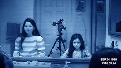 Katie and her young sister Kristi supply the creepiness for Paranormal Activity 3.