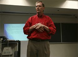 FAU Professor David Bjorklund didn&#039;t expect much furor over their study. But he thought Jesse Bering (following picture) might find protestors outside his classes.