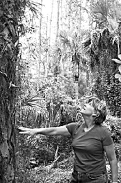 1000 Friends of Florida's Joanne Davis in the wilds near the future Scripps site