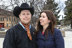 Cattle rancher Troy Hadrick, with wife Stacy, went on an internet rampage against Yellow Tail.