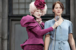 Lawrence, right, as Katniss: Iron determination.