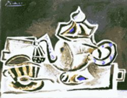 Picasso's Still Life (1953): One cube or two?