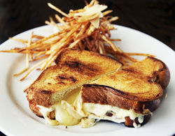 Sink your teeth into a grilled cheese sandwich.