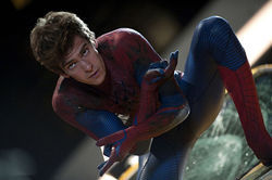 The new Spidey is ready for his close-up.Jaimie Trueblood