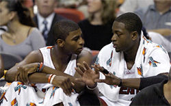 Dorell Wright can learn a lot from his good friend Dwyane Wade.