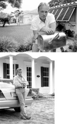 "Oodles of charm: Jon Schwenzer (top) and his 1939 bungalow. Developer Glenn Wright (bottom) declares, ""Over time, you'll see these [small houses] disappear."""