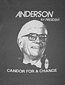 John B. Anderson&#039;s 1980 campaign literature positioned him as a political maverick.
