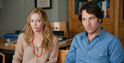 Leslie Mann and Paul Rudd: One-upping.