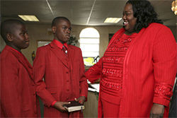 Grandmother Sharon Monroe is an ordained minister and an ex-convict.