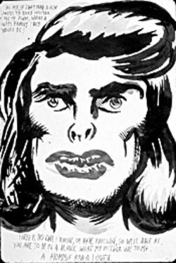 No one is safe from Raymond Pettibon's art. Not even Joan Crawford.