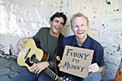 Musical comedy duo Marc Ryan and Collin Moulton.