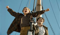 Leonardo DiCaprio plays Jack Dawson and Danny Nucci plays Fabrizio in Titanic 3D.