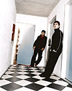 Gabriel and Dresden in their matching track suits