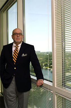 Don Hall, a lawyer for Icon's developers, hopes the tower will someday block his river view.