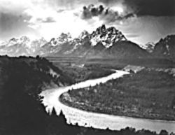 Ansel Adams: Big subjects, small prints