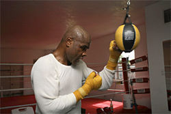 Glen Johnson hits the gym six days a week. He&#039;s fighting to feed his family.