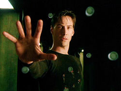 Keanu Reeves stars as Neo in the Wachowskis' iconic film The Matrix.