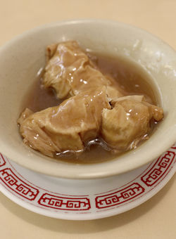Stuffed bean curd skins came filled with earthy bamboo shoots and mushrooms.