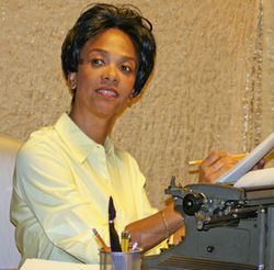 Karen Stephens as playwright Lorraine Hansberry.